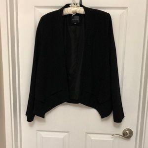 Black unstructured jacket blazer
